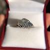 2.00ct Art Deco Asscher Cut Diamond Ring GIA J SI1 53