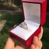 2.00ct Art Deco Asscher Cut Diamond Ring GIA J SI1 43