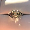 2.00ct Art Deco Asscher Cut Diamond Ring GIA J SI1 40