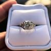 2.00ct Art Deco Asscher Cut Diamond Ring GIA J SI1 38