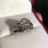 2.00ct Art Deco Asscher Cut Diamond Ring GIA J SI1 21
