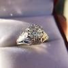 2.00ct Art Deco Asscher Cut Diamond Ring GIA J SI1 56