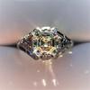 2.00ct Art Deco Asscher Cut Diamond Ring GIA J SI1 62