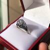 2.00ct Art Deco Asscher Cut Diamond Ring GIA J SI1 45