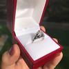 2.00ct Art Deco Asscher Cut Diamond Ring GIA J SI1 50