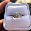2.00ct Art Deco Asscher Cut Diamond Ring GIA J SI1 72