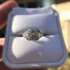 2.00ct Art Deco Asscher Cut Diamond Ring GIA J SI1 9