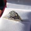 2.00ct Art Deco Asscher Cut Diamond Ring GIA J SI1 23