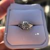 2.00ct Art Deco Asscher Cut Diamond Ring GIA J SI1 67