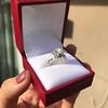 2.00ct Art Deco Asscher Cut Diamond Ring GIA J SI1 46
