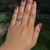 2.00ct Art Deco Asscher Cut Diamond Ring GIA J SI1 51