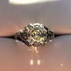 2.00ct Art Deco Asscher Cut Diamond Ring GIA J SI1 28