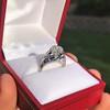 2.00ct Art Deco Asscher Cut Diamond Ring GIA J SI1 4