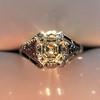 2.00ct Art Deco Asscher Cut Diamond Ring GIA J SI1 1