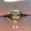 2.00ct Art Deco Asscher Cut Diamond Ring GIA J SI1 63