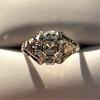2.00ct Art Deco Asscher Cut Diamond Ring GIA J SI1 64