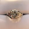 2.00ct Art Deco Asscher Cut Diamond Ring GIA J SI1 71