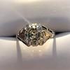 2.00ct Art Deco Asscher Cut Diamond Ring GIA J SI1