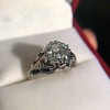 2.00ct Art Deco Asscher Cut Diamond Ring GIA J SI1 55