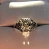 2.00ct Art Deco Asscher Cut Diamond Ring GIA J SI1 59
