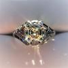 2.00ct Art Deco Asscher Cut Diamond Ring GIA J SI1 6