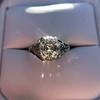 2.00ct Art Deco Asscher Cut Diamond Ring GIA J SI1 65