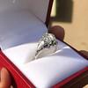 2.00ct Art Deco Asscher Cut Diamond Ring GIA J SI1 24