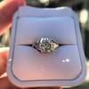 2.00ct Art Deco Asscher Cut Diamond Ring GIA J SI1 66