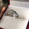 2.00ct Art Deco Asscher Cut Diamond Ring GIA J SI1 54