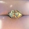 2.00ct Art Deco Asscher Cut Diamond Ring GIA J SI1 58