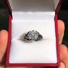 2.00ct Art Deco Asscher Cut Diamond Ring GIA J SI1 8