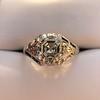 2.00ct Art Deco Asscher Cut Diamond Ring GIA J SI1 37