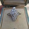 2.00ctw Vintage Navette Ring 5