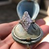 2.00ctw Vintage Navette Ring 4