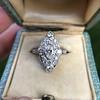 2.00ctw Vintage Navette Ring 10
