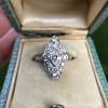 2.00ctw Vintage Navette Ring 14