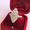 2.00ctw Vintage Navette Ring 9