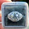 2.01ctw Old European Cut Diamond Art Deco Ring 12
