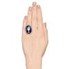 2.04ctw Georgian Urn Motif Diamond and Enamel Ring 3