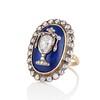 2.04ctw Georgian Urn Motif Diamond and Enamel Ring 1