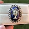 2.04ctw Georgian Urn Motif Diamond and Enamel Ring 10