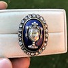 2.04ctw Georgian Urn Motif Diamond and Enamel Ring 7