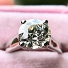 2.05ct Old European Cut Diamond Platinum Solitaire, GIA K SI1 17