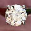 2.05ct Old European Cut Diamond Platinum Solitaire, GIA K SI1 12