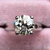 2.05ct Old European Cut Diamond Platinum Solitaire, GIA K SI1 7