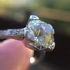 2.08ct Vintage Old European Cut Diamond Illusion Ring 15