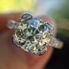 2.08ct Vintage Old European Cut Diamond Illusion Ring 6
