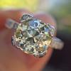 2.08ct Vintage Old European Cut Diamond Illusion Ring 4