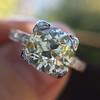2.08ct Vintage Old European Cut Diamond Illusion Ring 13