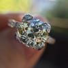 2.08ct Vintage Old European Cut Diamond Illusion Ring 10